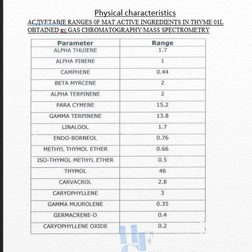 Thyme Essential Oil GCF