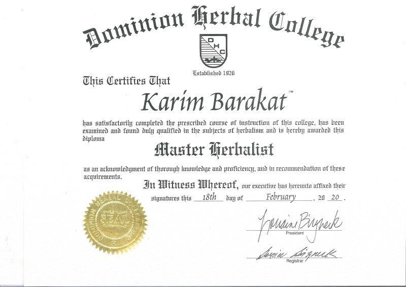 Master Herbalist Karim Barakat